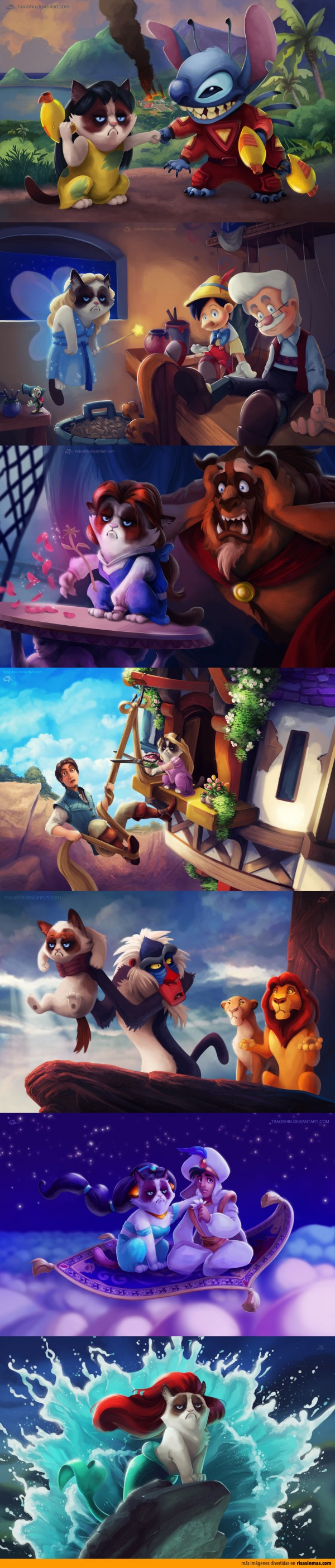 Personajes de Disney interpretados por Grumpy Cat