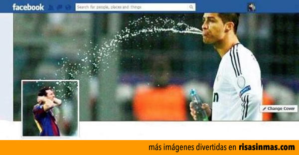 Portadas de Facebook: Cristiano Ronaldo y Messi