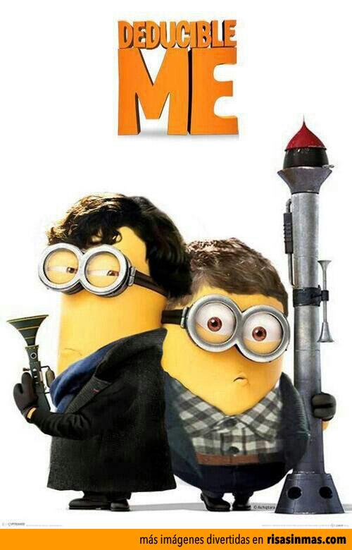 Protagonistas de Sherlock como Minions