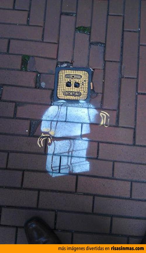 Street art: LEGO