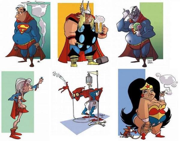Superhéroes envejecidos