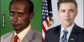 Vladímir Obama y Barack Putin