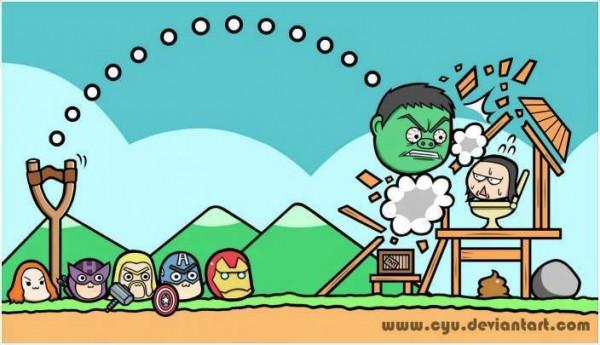 Angry Birds edición superhéroes