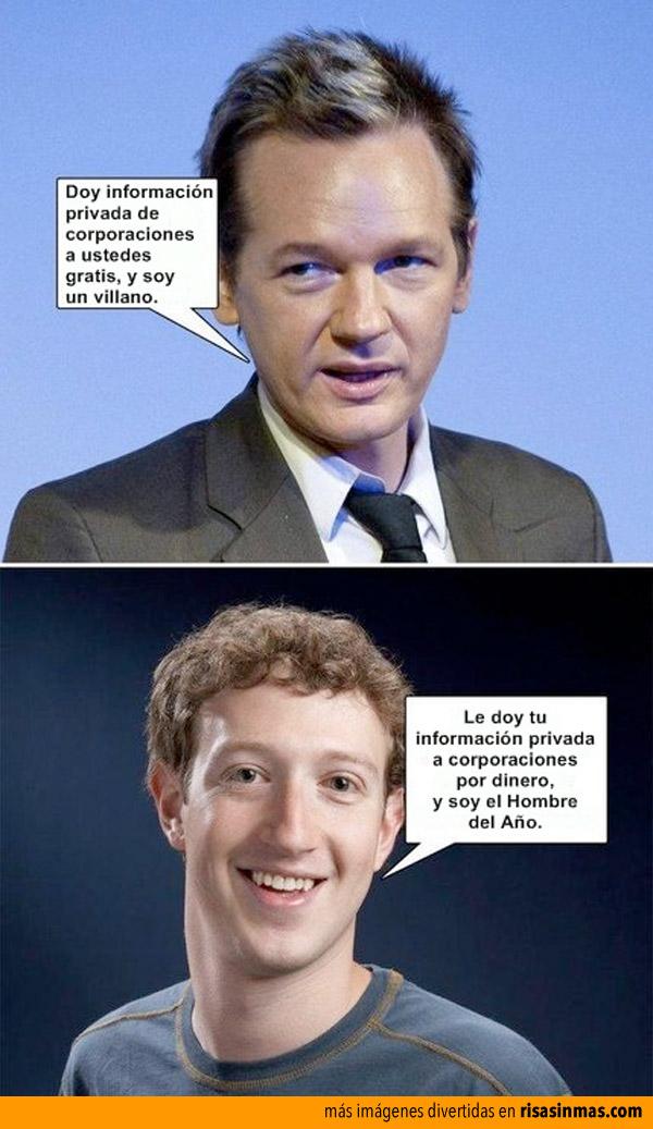 Assange y Zuckerberg