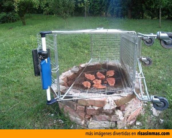 Barbacoa improvisada