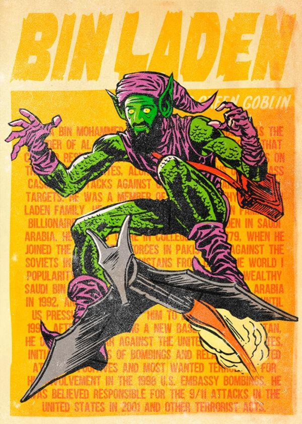 Bin Laden como Duende verde