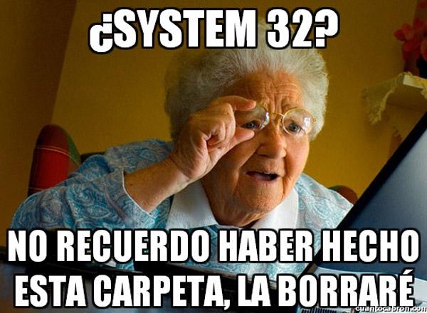 Borrando System 32
