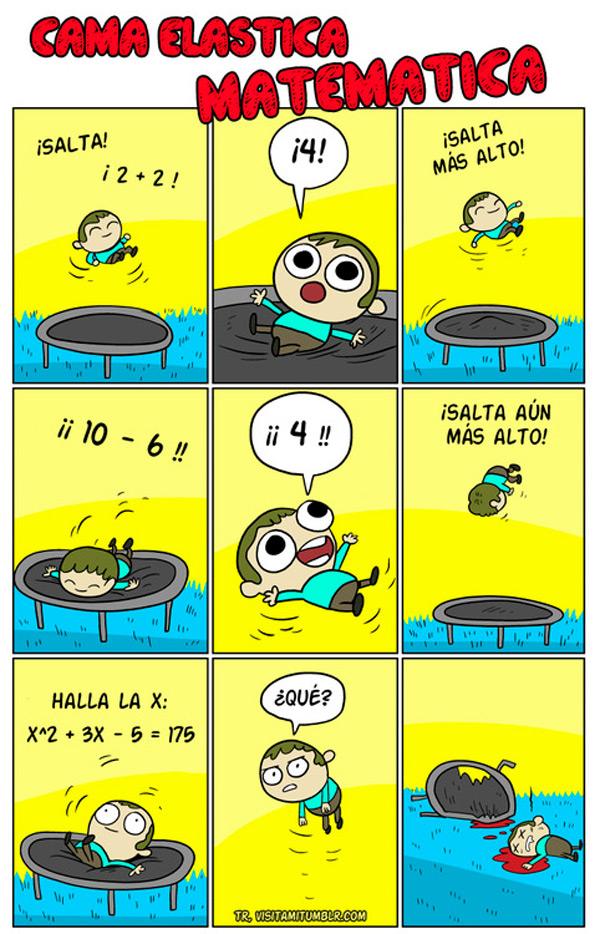 Cama elástica matemática