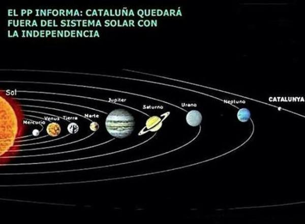 Cataluña quedará fuera del Sistema solar