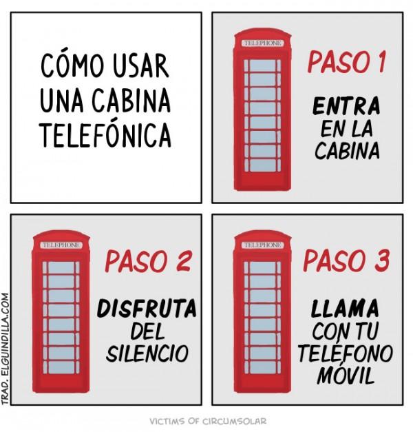 Cómo usar una cabina telefónica