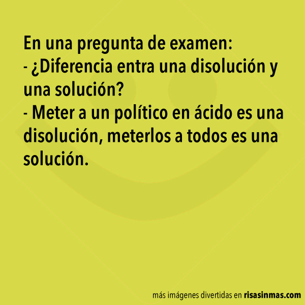 Disolución y solución