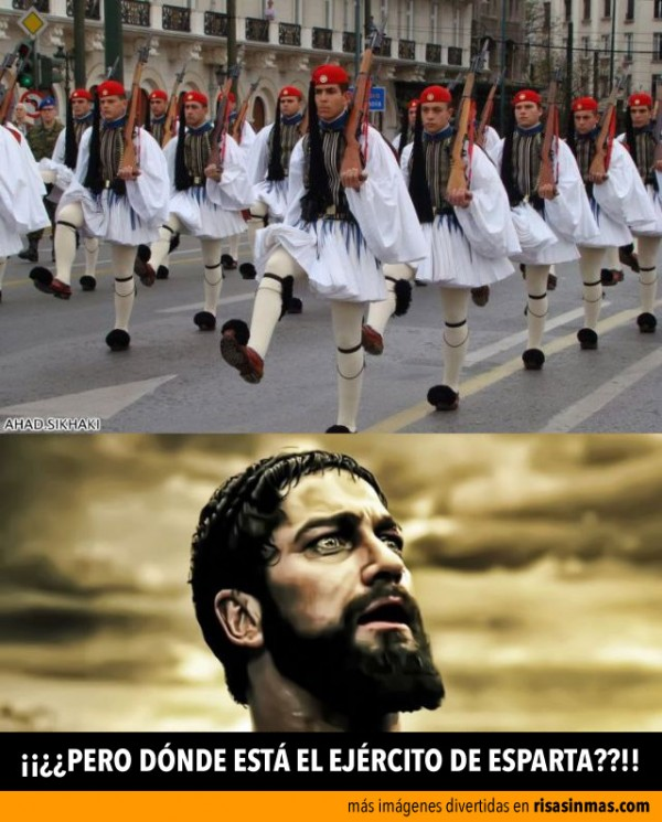 ¿Dónde está el ejército de Esparta?