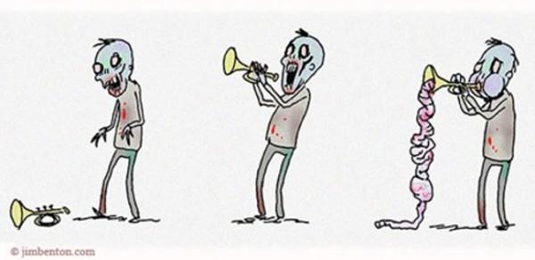 El trompetista zombie