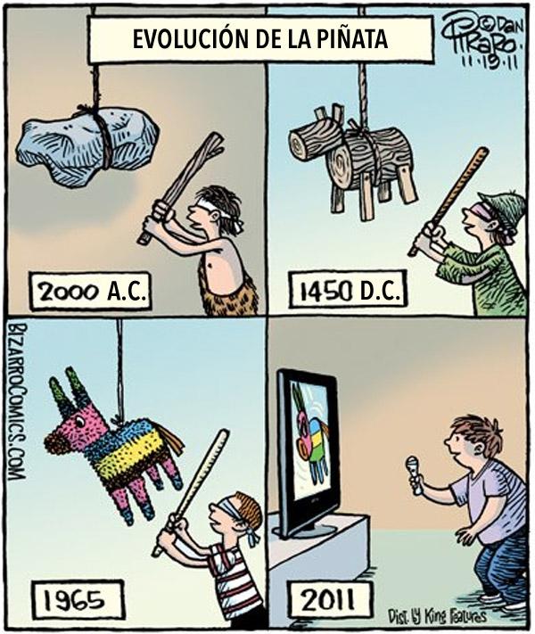 Evolución de la piñata