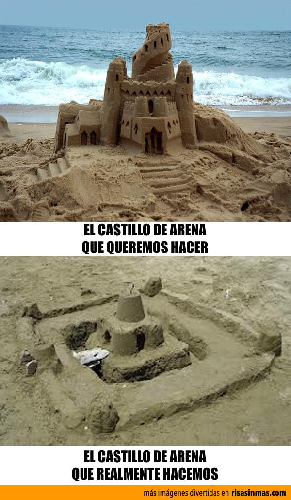 Expectativas y realidad: Castillos de arena