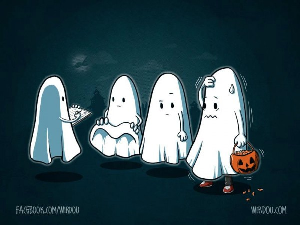 Fantasmas en Halloween