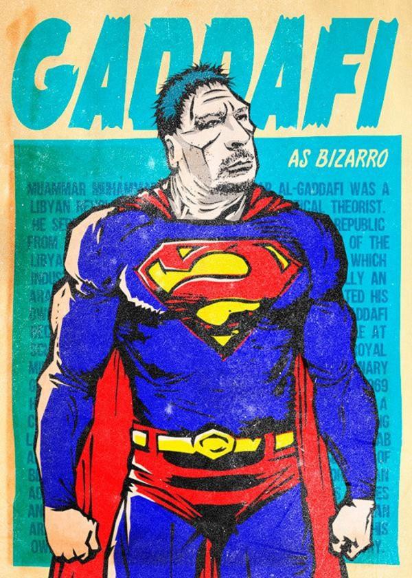Gaddafi como Bizarro