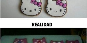 Haciendo galletas de Hello Kitty