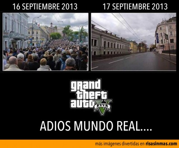 Grand Theft Auto V, adiós mundo real