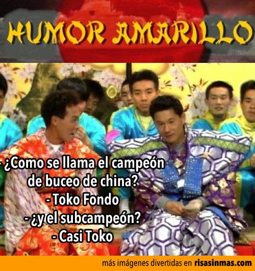 Humor amarillo: Campeón de buceo de china