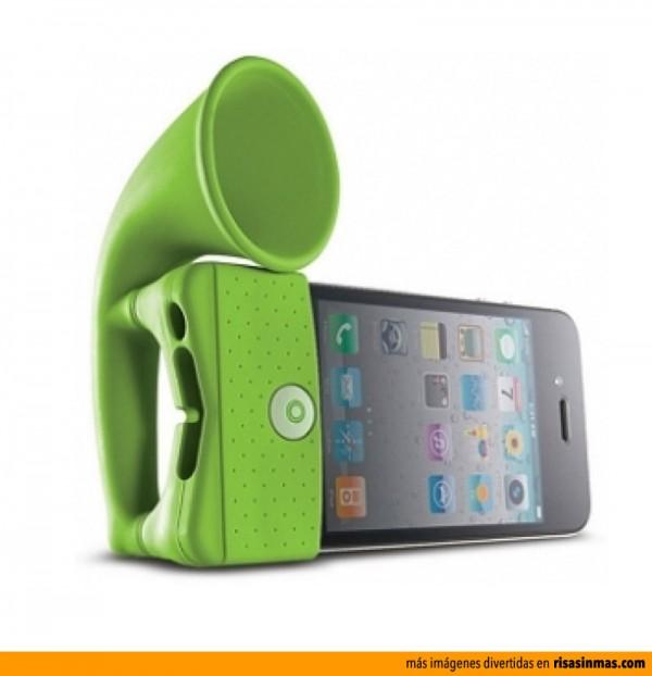 iHorn altavoz de iPhone en forma de cuerno