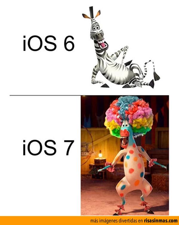 Diferencias entre iOS 6 y iOS 7