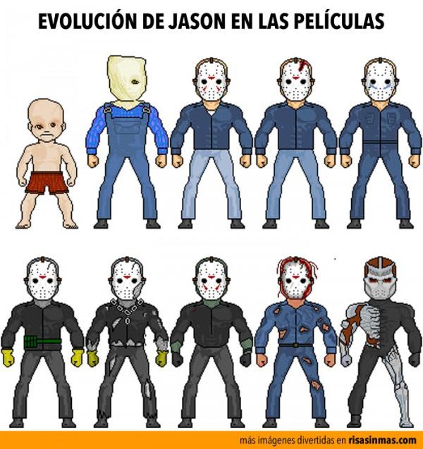 La evolución de Jason en las películas