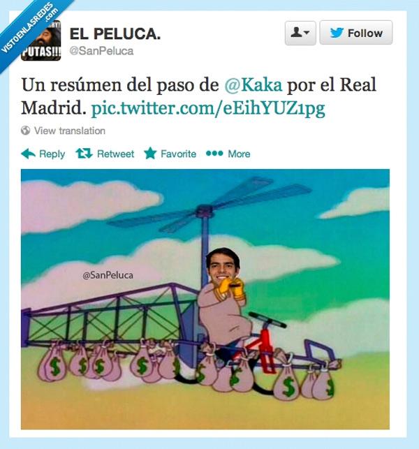 Kaká pasando por el Real Madrid