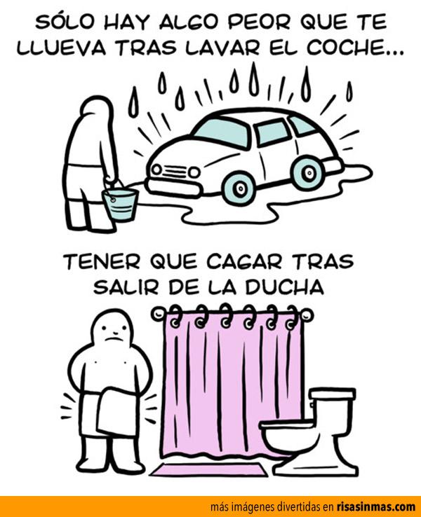 Algo peor que la lluvia tras lavar el coche