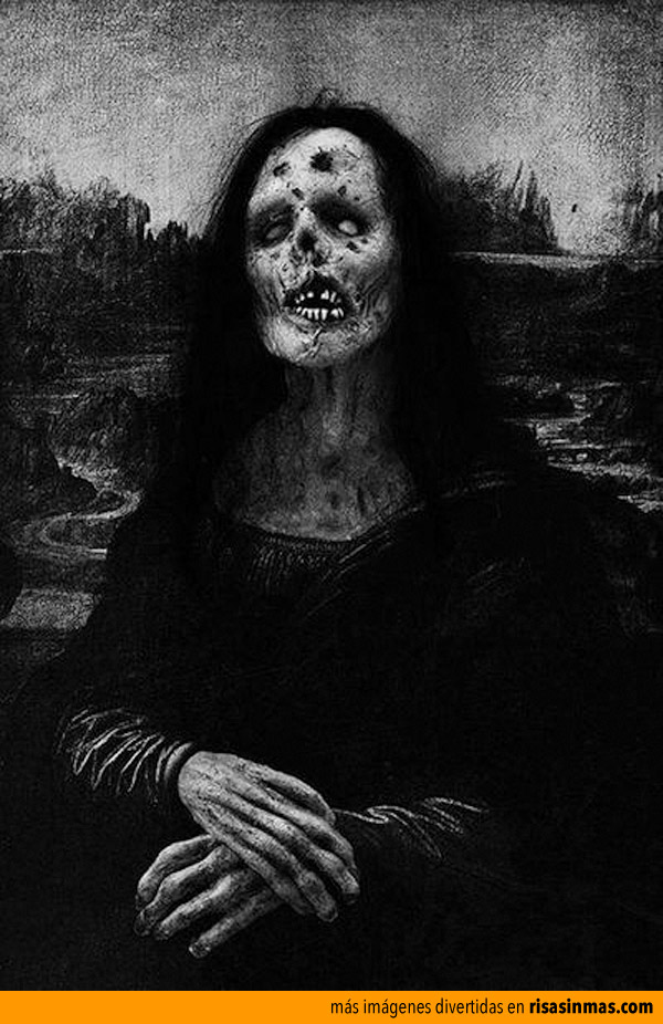 La mona Lisa zombie