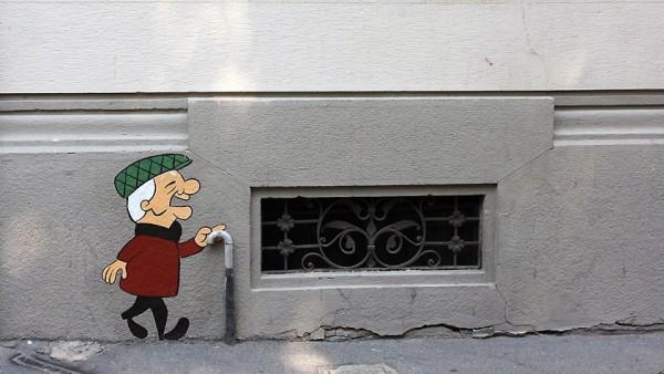 Mr. Magoo en arte callejero