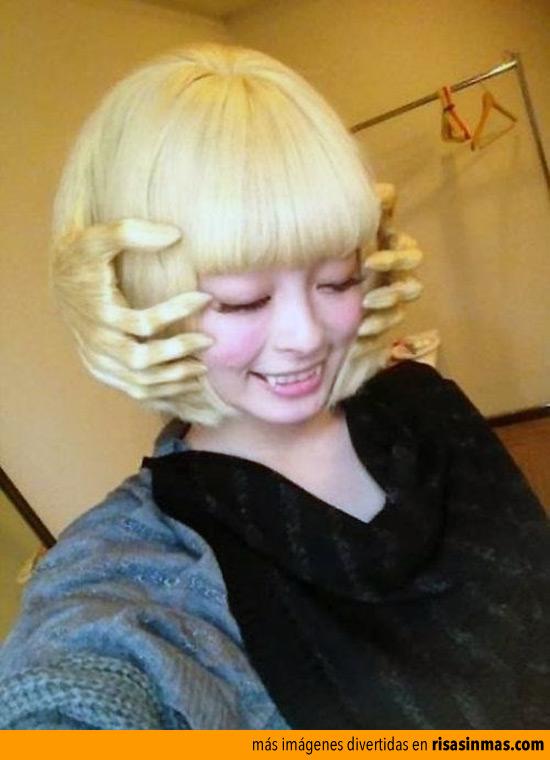 Un peinado de película de terror