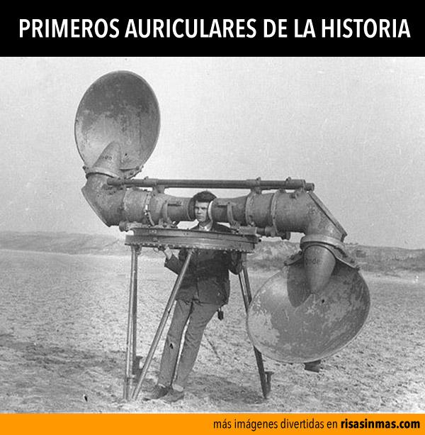 Primeros auriculares de la historia