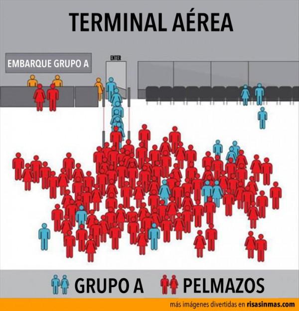 En la terminal aérea