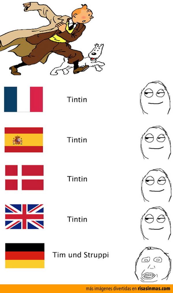 Cómo se dice Tintin en diferentes idiomas