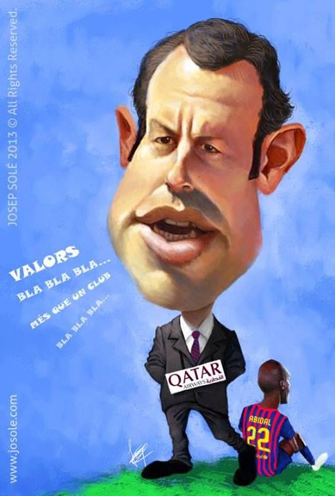 Caricatura de Sandro Rosell