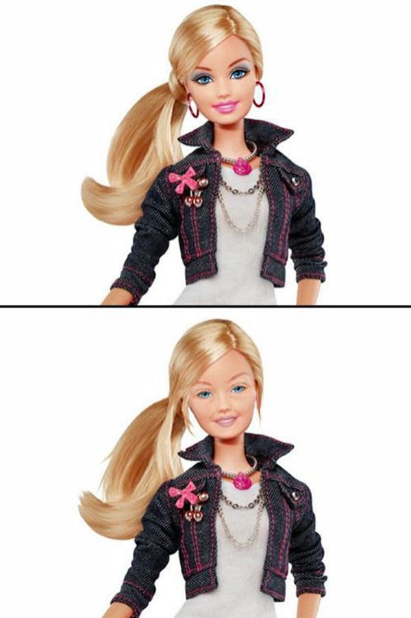 Barbie sin maquillaje