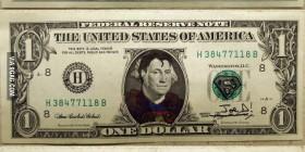 Billetes de un dólar como superhéroes