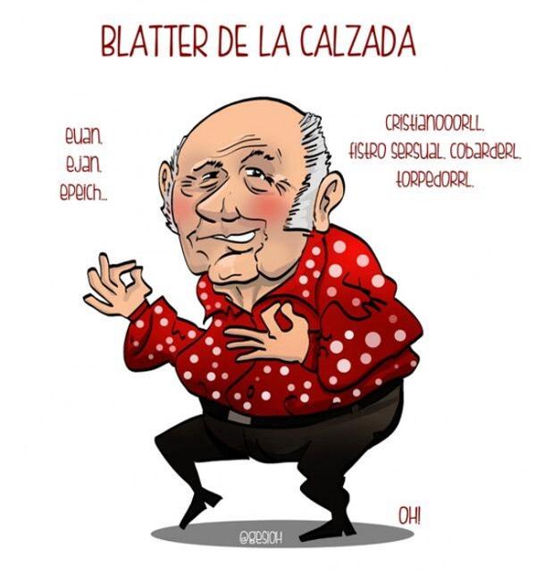 Blatter de la Calzada, el humorista de moda