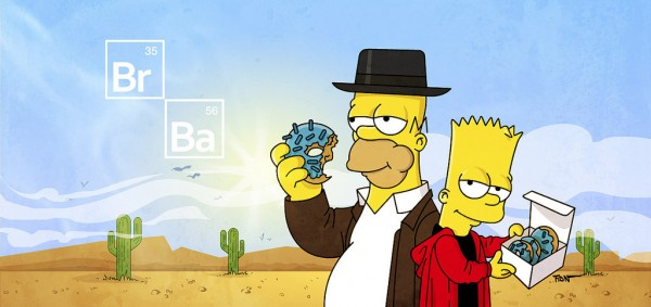Breaking Bad y Los Simpson