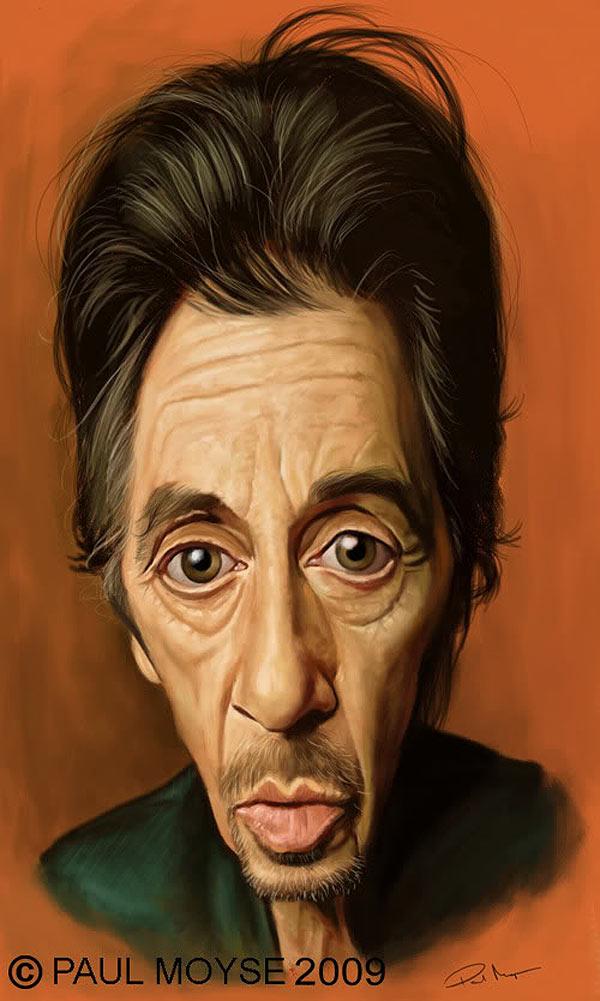 Caricatura de Al Pacino