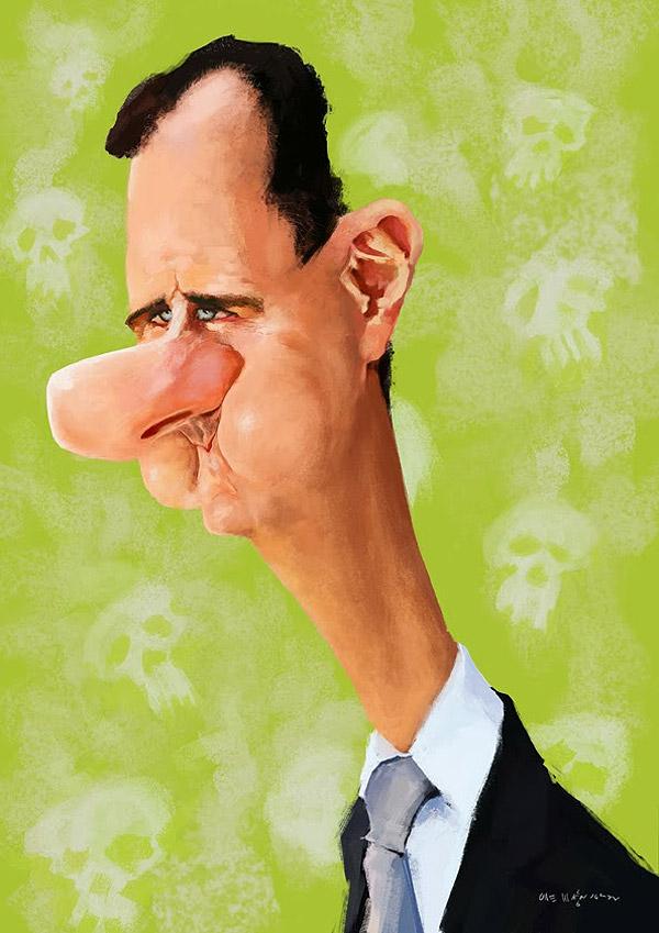 Caricatura de Bashar al-Asad