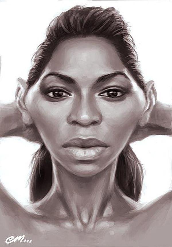 Caricatura de Beyoncé