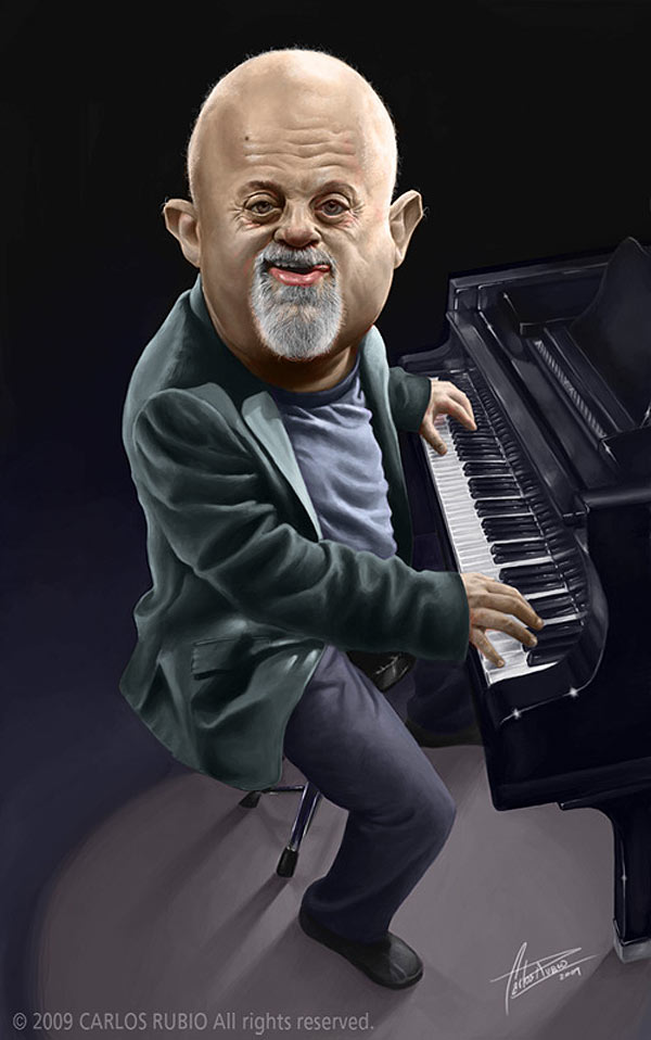 Caricatura de Billy Joel