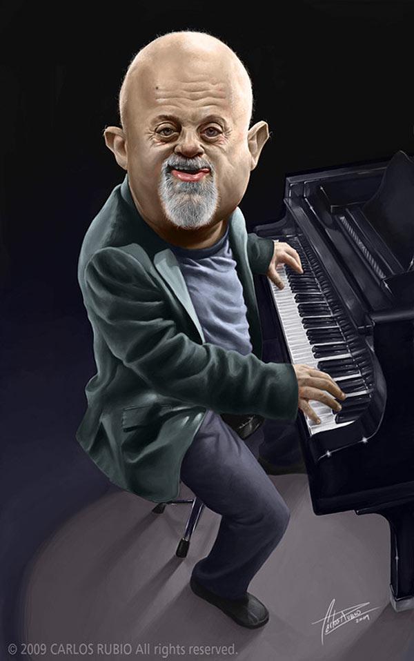 Caricatura de Billy Joel