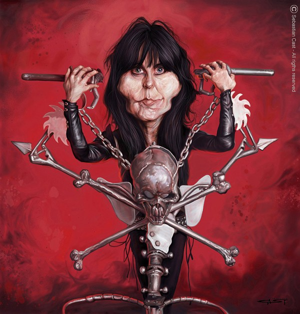Caricatura de Blackie Lawless
