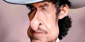 Caricatura de Bob Dylan