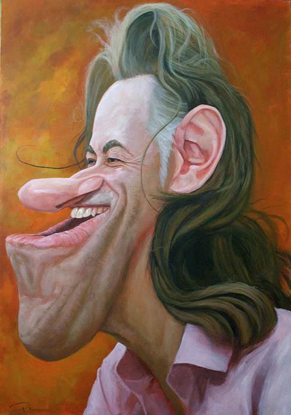 Caricatura de Bob Geldof