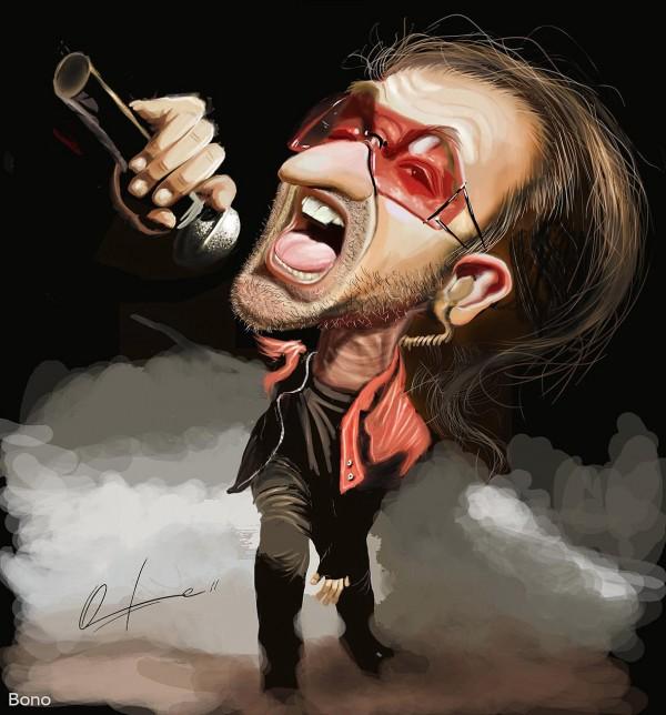 Caricatura de Bono