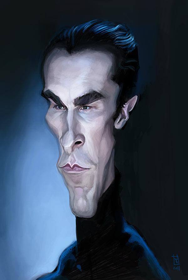 Caricatura de Christian Bale